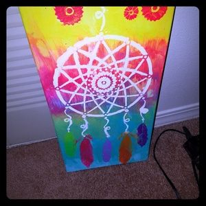 Hand painted  dream catcher canvas